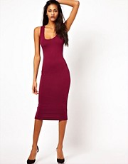 ASOS Midi Vest Bodycon Dress