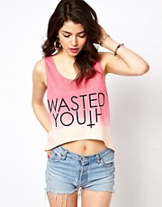 Reverse Wasted Youth Tank Top In Dip Dye