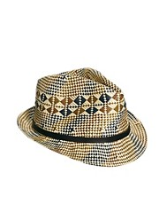 French Connection Geo Trilby Hat