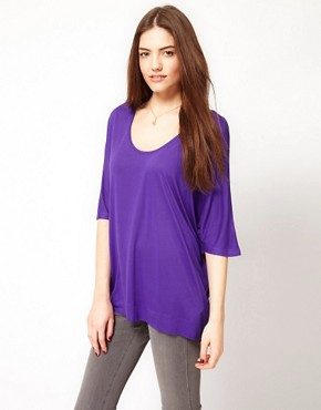 Image 1 ofFrench Connection Slouchy Jersey T-Shirt