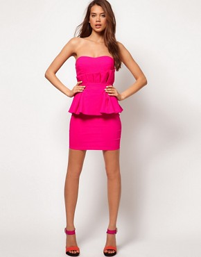 Image 4 ofLipsy Double Peplum Dress
