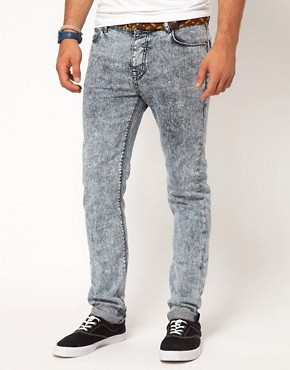 Image 1 ofASOS Skinny Jean With Mid Acid Wash