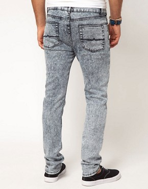 Image 2 ofASOS Skinny Jean With Mid Acid Wash