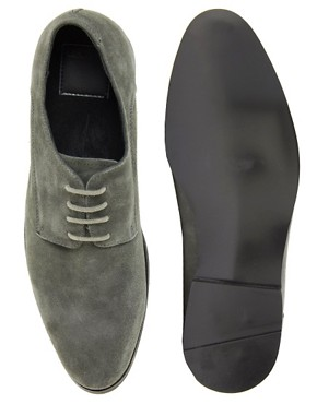 Image 3 of ASOS Derby Shoes in Suede