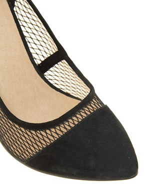Image 2 ofASOS PRESSED Pointed High Heels with Suede Detail