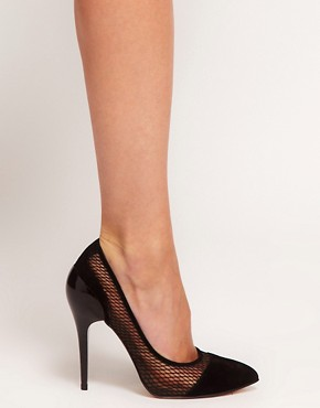 Image 3 ofASOS PRESSED Pointed High Heels with Suede Detail