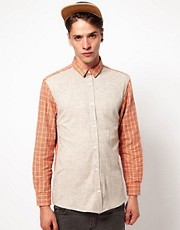 Self Shirt with Front Panel