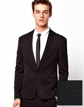 ASOS Skinny Fit Suit Jacket in Polywool
