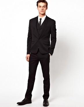 Image 4 of ASOS Skinny Fit Suit Jacket in Polywool