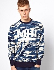 MHI By Maharishi Crew Neck Sweatshirt Tigerstripe Camo Logo
