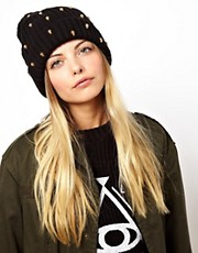 ASOS Skull Stud Boyfriend Beanie