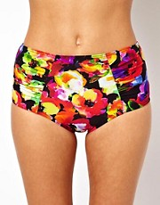 ASOS Bright Floral High Waisted Bikini Pant