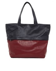 Jas MB Exclusive To ASOS Leather Darius Two Tone Shopper