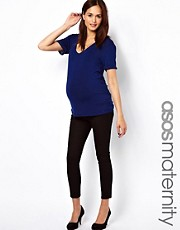 ASOS Maternity Exclusive Twill Capri Trousers