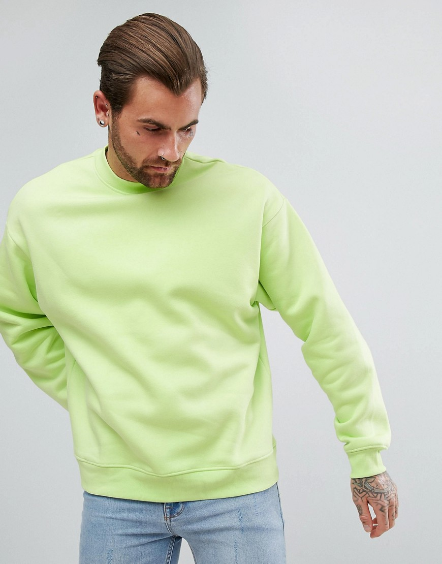 Weekday Big Steve Sweatshirt - Lt yellow green