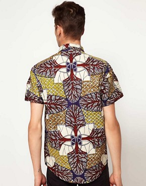 Image 2 ofReclaimed Vintage African Print Shirt