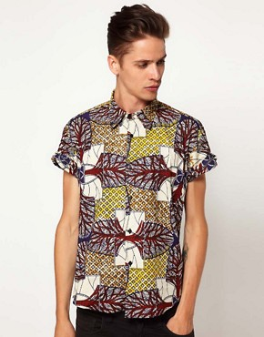 Image 1 ofReclaimed Vintage African Print Shirt
