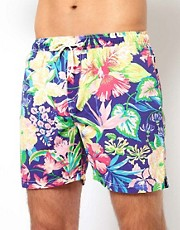 Scotch &amp; Soda Floral Swim Shorts