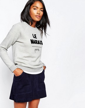 Whistles Le Marais Sweatshirt Top