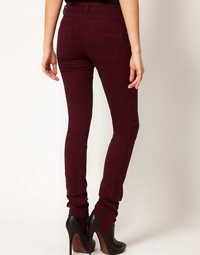 Image 2 ofASOS Skinny Jeans in Oxblood