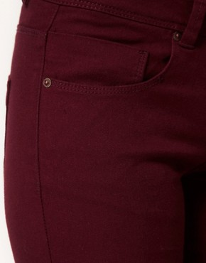 Image 3 ofASOS Skinny Jeans in Oxblood