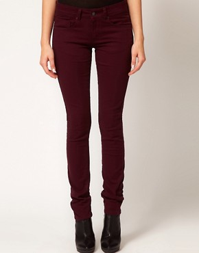 Image 1 ofASOS Skinny Jeans in Oxblood