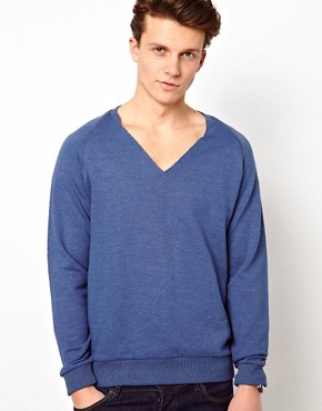 Image 1 ofASOS Sweatshirt With Notch Neck