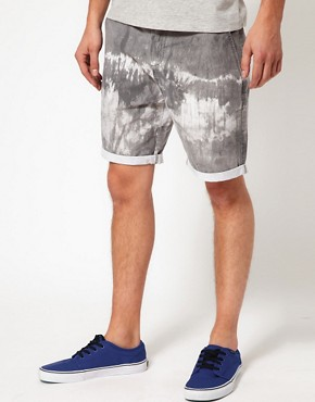 Image 1 of ASOS Chino Shorts With Tie Dye