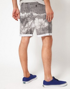 Image 2 of ASOS Chino Shorts With Tie Dye