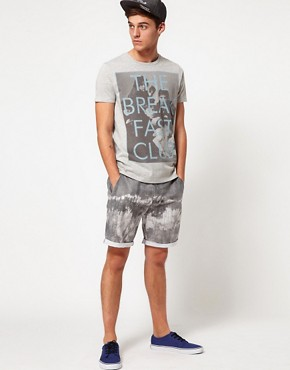 Image 4 of ASOS Chino Shorts With Tie Dye