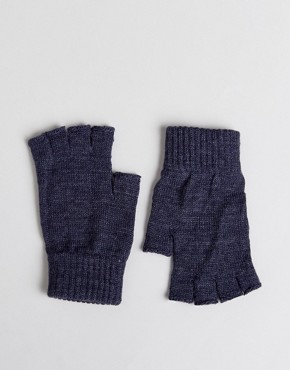 ASOS Fingerless Gloves In Denim