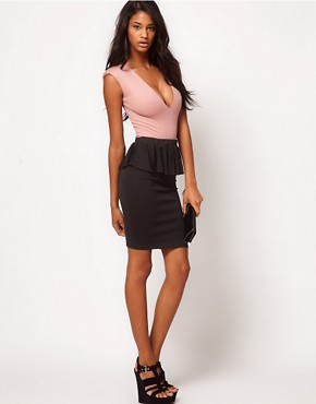 Image 1 ofOh My Love Chiffon Peplum Pencil Skirt