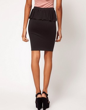 Image 2 ofOh My Love Chiffon Peplum Pencil Skirt