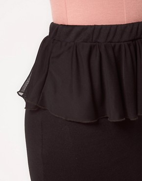 Image 3 ofOh My Love Chiffon Peplum Pencil Skirt