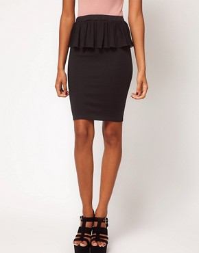 Image 4 ofOh My Love Chiffon Peplum Pencil Skirt