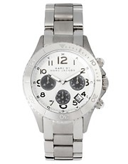 Marc by Marc Jacobs Silver Chronograph Bracelet Watch