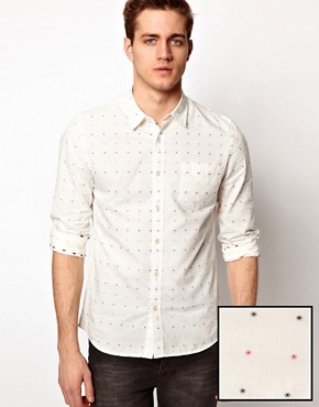 Image 1 ofASOS Shirt With Polka Dot