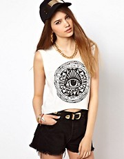 Illustrated People Indie Eye Crop Top