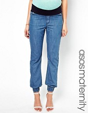 ASOS Maternity Exclusive Lightweight Denim Trackpant