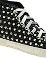 Image 4 ofGienchi Black Glitter High Top Trainers