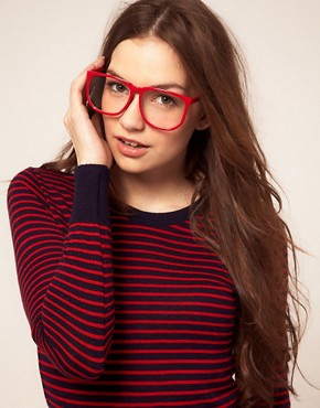 Image 3 ofASOS Oversized Geeky Specs With Clear Lens
