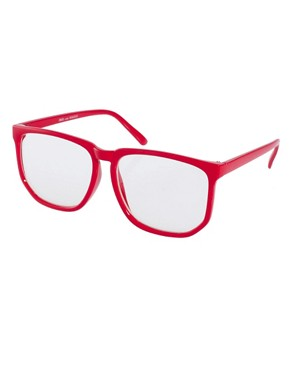 Image 1 ofASOS Oversized Geeky Specs With Clear Lens