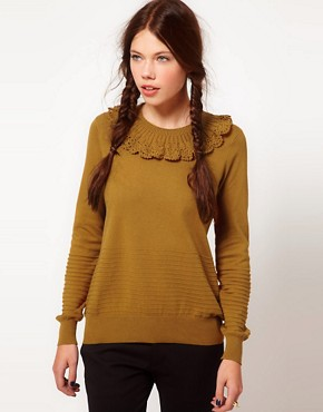 Image 1 ofb + ab Crochet Collar Jumper