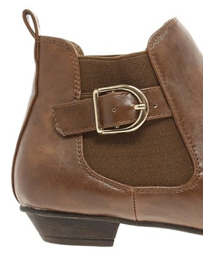 Image 2 ofASOS AGATHA Chelsea Ankle Boots with Buckle