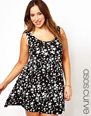 ASOS CURVE Sundress In Star Print