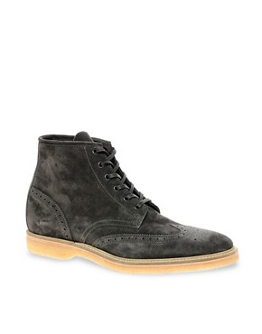 Image 1 ofHUGO By Hugo Boss Obber Suede Brogue Boots