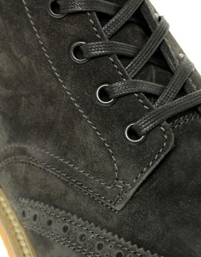 Image 2 ofHUGO By Hugo Boss Obber Suede Brogue Boots