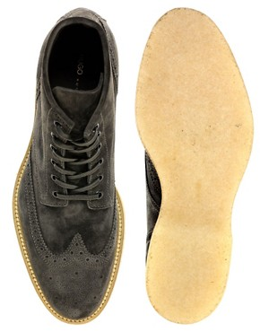 Image 3 ofHUGO By Hugo Boss Obber Suede Brogue Boots