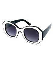 ASOS Monochrome 70s Sunglasses