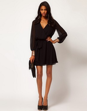 Image 4 ofASOS Wrap Dress with Sequin Cuff